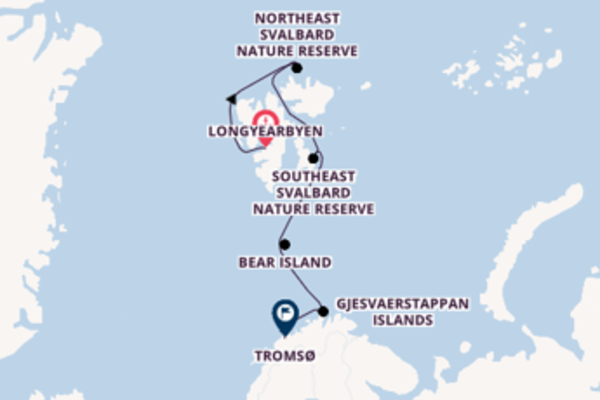 Trip from Longyearbyen to Tromsø via Northeast Svalbard Nature Reserve