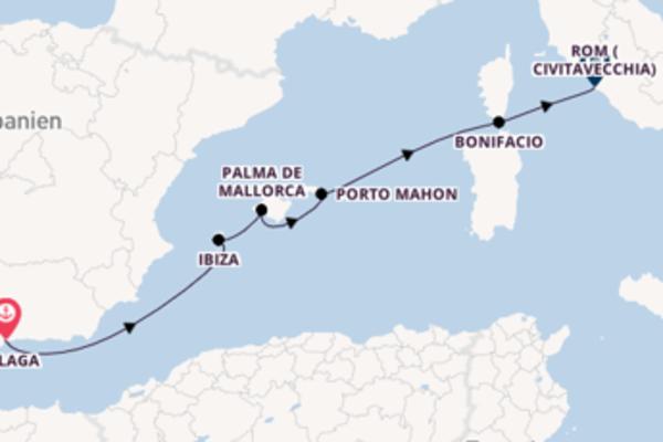 Über die Balearen nach Rom