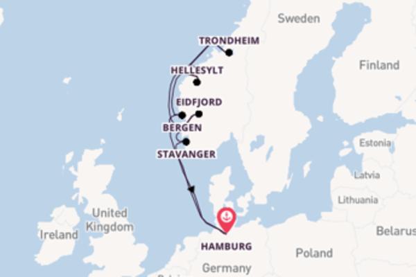 Cruise met AIDA Cruises naar Geiranger