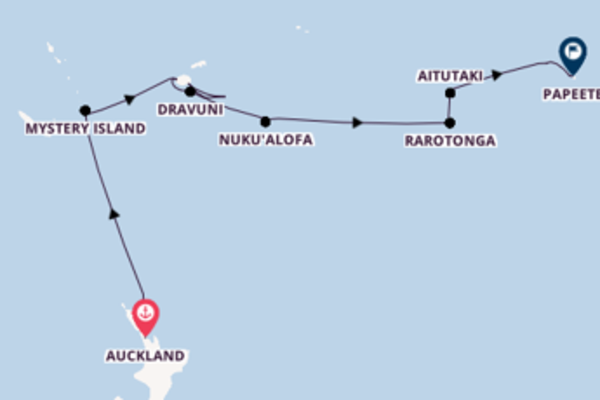 In 20 dagen naar Papeete, Frans-Polynesië