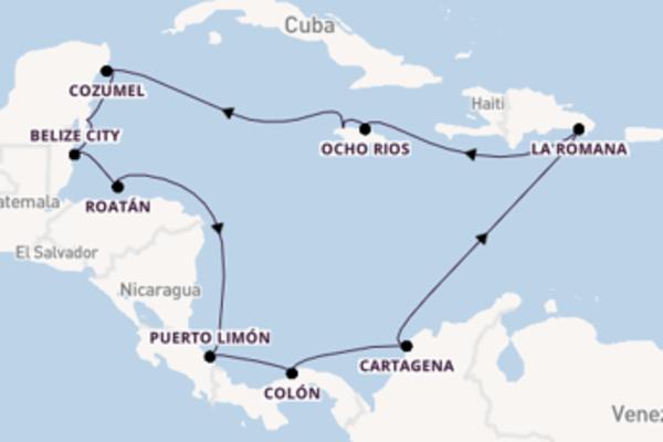 15-daagse cruise met de Mein Schiff 1 vanuit Montego Bay