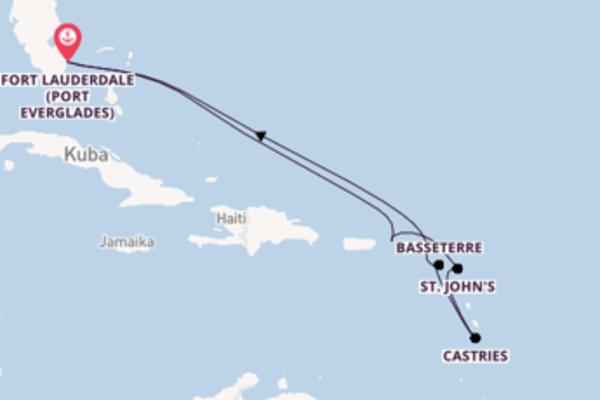Von Fort Lauderdale über Castries in 11 Tagen