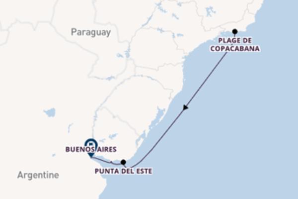 Envoutante croisière vers Buenos Aires via Punta del Este
