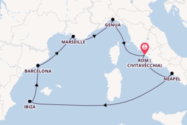 Beeindruckende Kreuzfahrt über Marseille nach Rom (Civitavecchia)