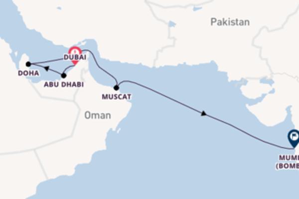 Cruising to Mumbai from Dubai