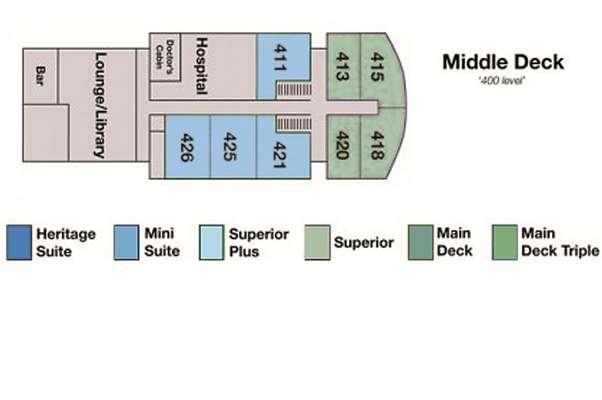 Spirit of Enderby Middle Deck
