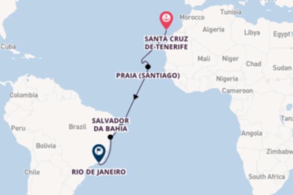 15-daagse droomcruise vanuit Santa Cruz de Tenerife, Tenerife, Spanje