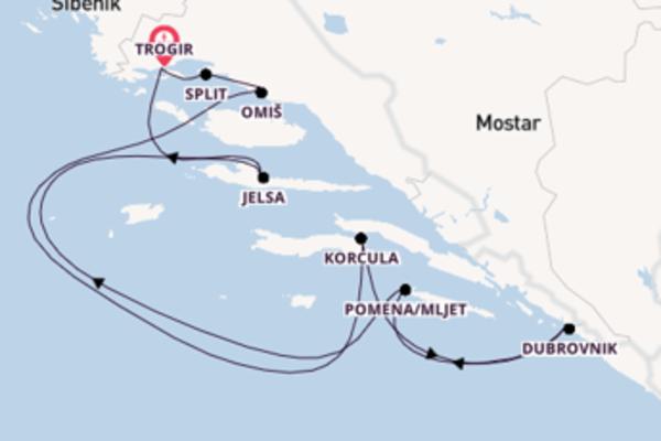 8 Tage auf der MS Dalmatia verbringen