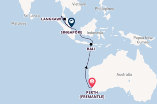 Sailing with the Sun Princess to Singapore from Perth