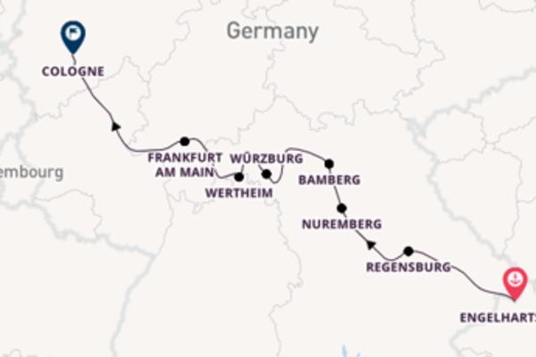 Cruise from Engelhartszell to Cologne via Regensburg
