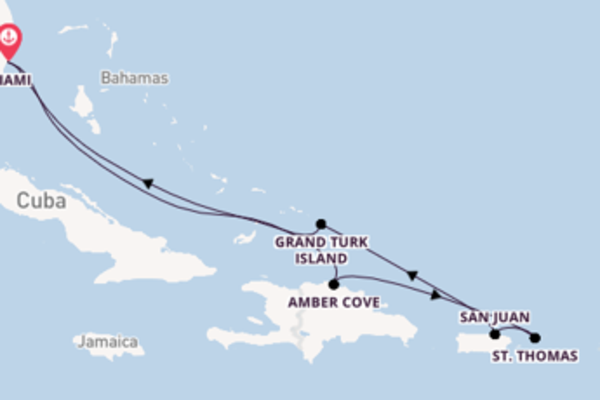 8 day cruise with the Carnival Magic to Miami