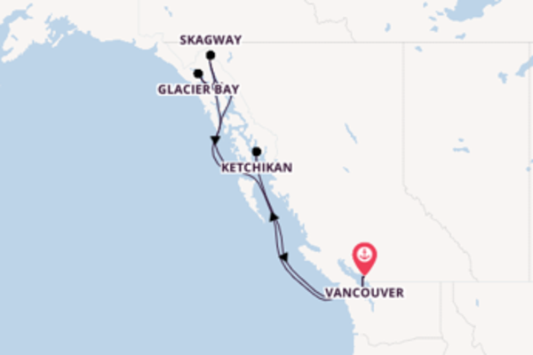 8 day cruise with the Koningsdam to Vancouver