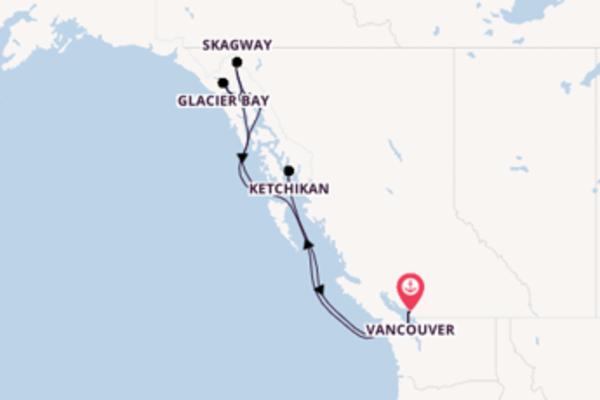 Geniet van een 8-daagse cruise naar Vancouver