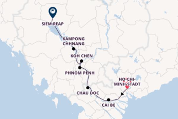10 Tage Mekong Kreuzfahrt