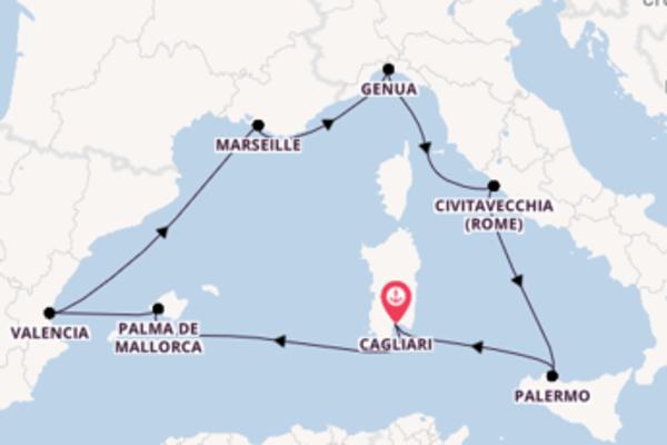 Geniet van een 8-daagse cruise naar Cagliari