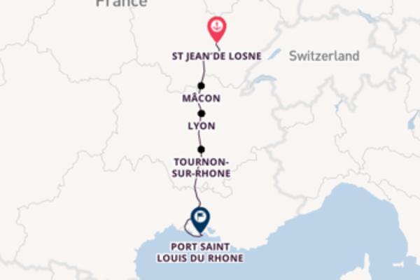 Cruising to Port Saint Louis du Rhone from St Jean de Losne