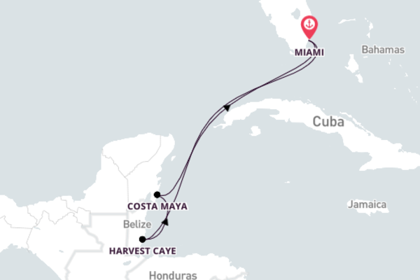 Enticing Costa Maya from Miami with Norwegian Pearl