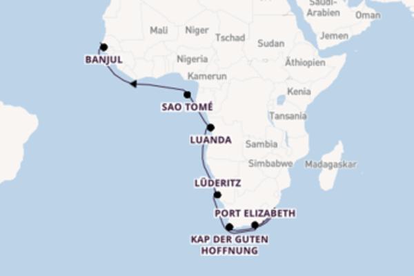 Von Kapstadt aus Süd- und Westafrika entdecken