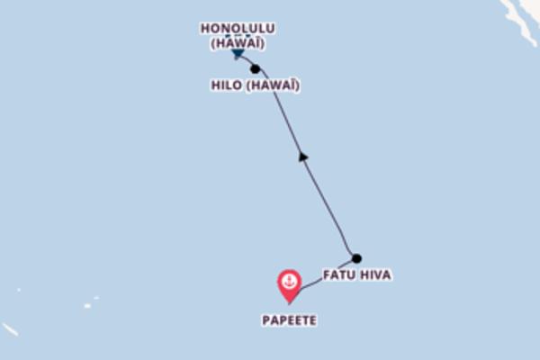 Ressentez à bord du bateau Le Soléal, la destination: Fatu Hiva