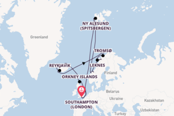 Cruising from Southampton (London) via Kristiansund