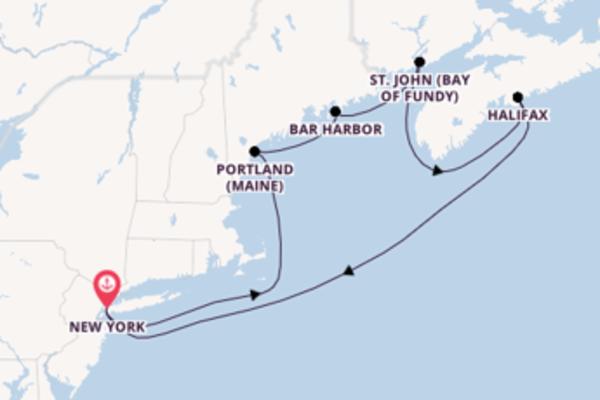 Faszinierende Reise über Bar Harbor in 8 Tagen