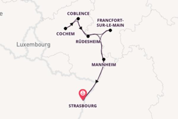 7 jours de navigation à bord du bateau France depuis Strasbourg