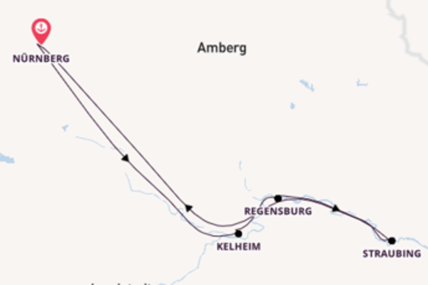 In 4 Tagen nach Nürnberg