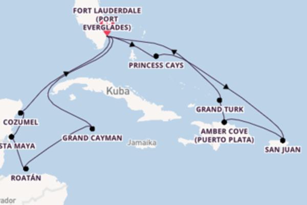 In 15 Tagen nach Fort Lauderdale (Port Everglades)