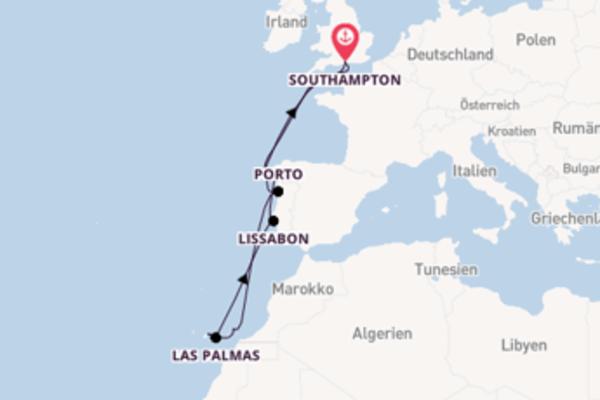 In 12 Tagen nach Southampton über Arrecife (Lanzarote)