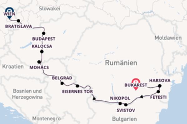 11 Tage Donau Kreuzfahrt