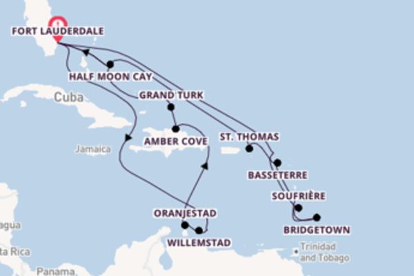 Cruise naar Fort Lauderdale via Kralendijk