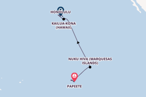 Sailing to Honolulu from Papeete