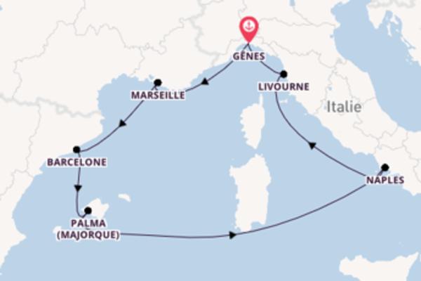 Croisière de 8 jours depuis Gênes avec MSC Croisières