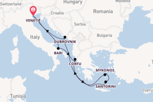 8-daagse cruise vanaf Venetië