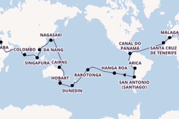 Relaxe a bordo do Costa Deliziosa em 118 dias