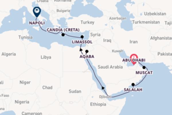 Fare rotta verso Chaur Fakkan a bordo di Costa Diadema
