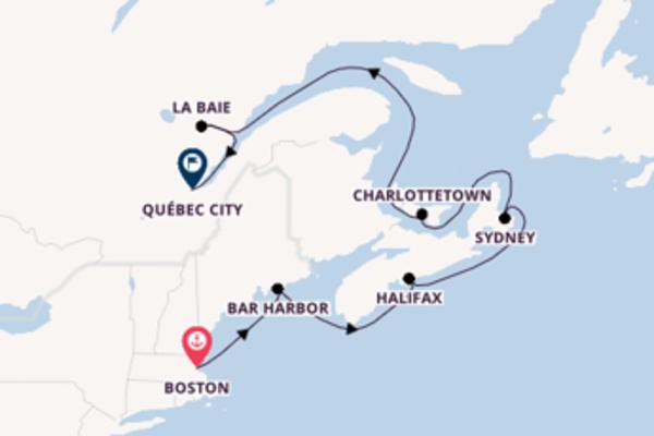 Pittoresca crociera da Boston verso Charlottetown