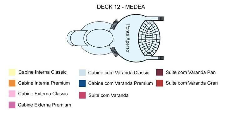 Costa Mediterranea Deck 12 Medea