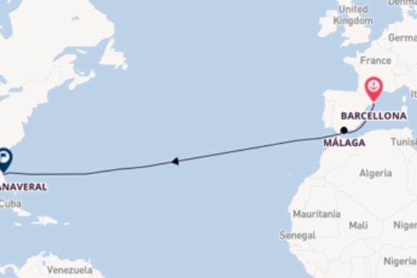 Estasiante crociera da Barcellona verso Málaga
