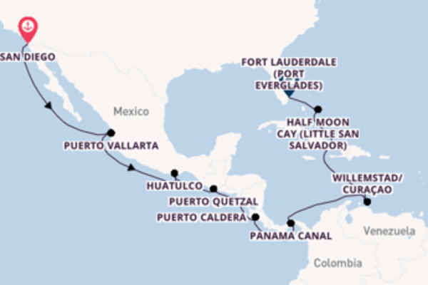 Sail with Holland America Line from San Diego, California