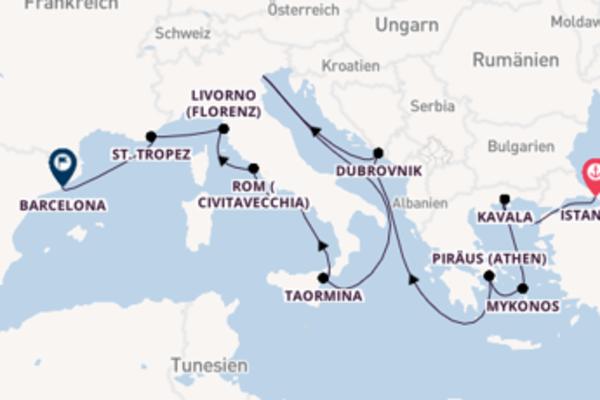 Kreuzfahrt mit der Insignia nach Barcelona