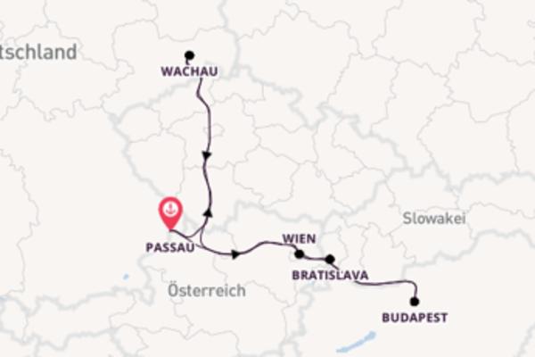 Kreuzfahrt mit der DCS Amethyst nach Passau