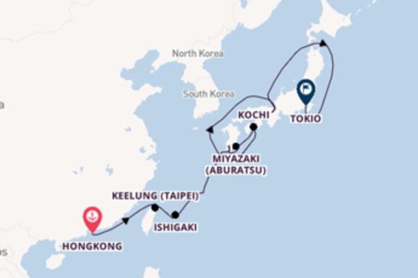 Geniet van een 13daagse cruise naar Tokio