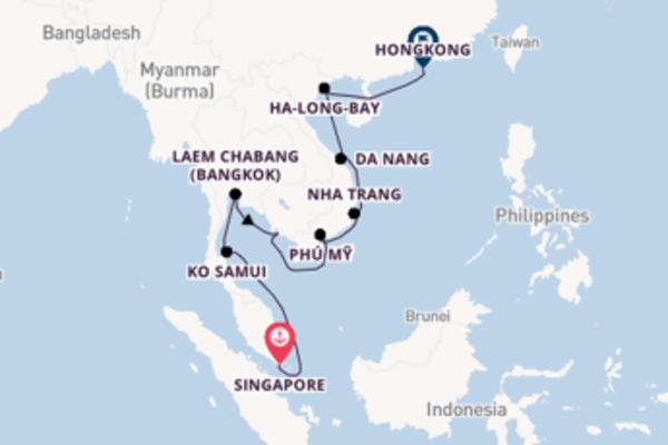 Geniet van een 15-daagse cruise naar Hongkong