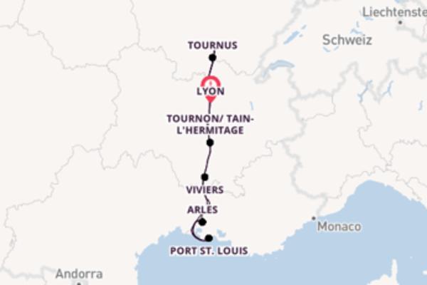 15 Tage Rhône Kreuzfahrt
