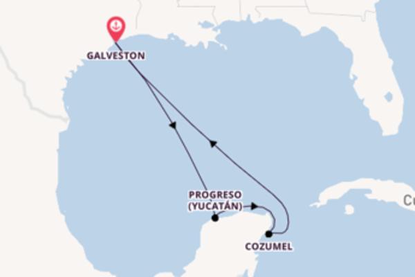 Cozumel, depuis Galveston à bord du bateau Adventure of the Seas