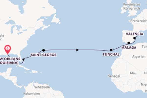 Atemberaubende Kreuzfahrt über Saint George nach Barcelona