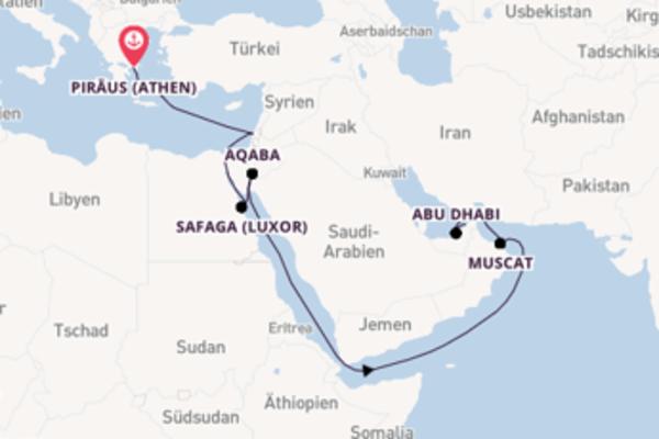 Kreuzfahrt mit Norwegian Spirit von Piräus (Athen) nach Dubai
