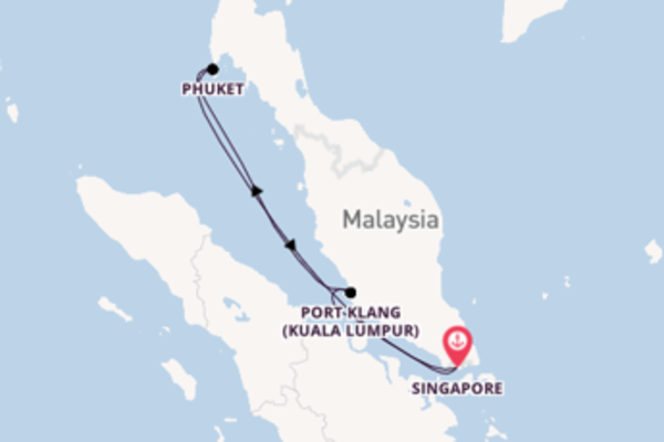 Trip from Singapore with the Voyager of the Seas