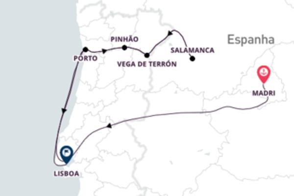 De Madrid a Lisboa passando pelo Rio Douro